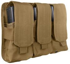 Coyote Brown Military M16 Rifle NATO AK47 Modular MOLLE Triple Magazine Pouch