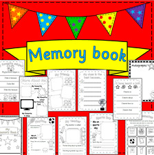 End of the Year Memory Book resource on CD- EYFS, KS1, KS2, PSHE