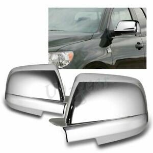 For 2007-2015 Toyota Tundra / Sequoia Chrome ABS Side Mirror Covers Caps 2PCS