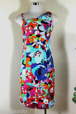 Vintage VERSACE Jeans Couture Colorful Floral Sexy Dress 26 /40 3 4 5