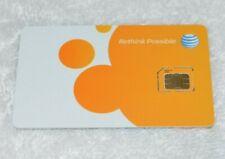At&T Micro Sim Card 3Ff • Gsm 4Glte • New Genuine Oem • Prepaid or Postpaid Att