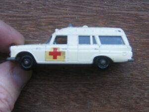 """Matchbox Series No. 3A Mercedes Benz """"Binz"""" Ambulance. No Box."""