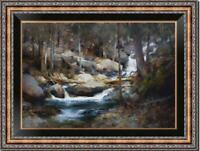 "Hand-painted Original Oil painting art Landscape Rock on Canvas 24""x36"""