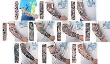 10PCS Mix Styles Fashion Fake Temporary Tattoo Sleeves Body Art Arm Stockings