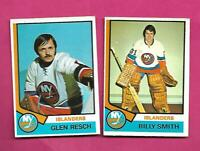 1974-75 OPC ISLANDERS GLENN RESCH RC + BILLY SMITH 2ND YEAR  CARD (INV# D2323)