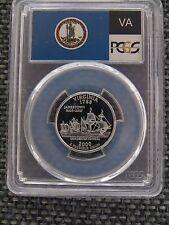 2000-S 25c Virginia SILVER Quarter Proof PCGS PR70DCAM State Flag Label