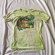 Welcome to Finland Jimmy Buffett 2011 Concert Tour T-Shirt Womens Green Med M