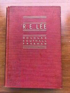 R.E. LEE   BIOGRAPHY 1934   DOUGLAS SOUTHALL FREEMAN - VOLUME 1  - HARDCOVER