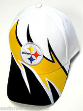 Pittsburgh Steelers NFL Team Apparel Sideline Hat Cap White Black Yellow Wave