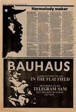 Bauhaus In The Flat Field Advert NME Cutting 1980