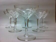 6 coupes à champagne en cristal NESTOR cotes plates. H: 136 mm  Val St Lambert