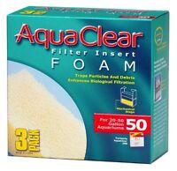 New Aqua Clear Aquaclear 50-Gallon Foam Inserts 3-Pack Aquarium Filter Part