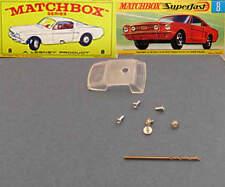 MATCHBOX 8 Mustang Replacement Window Unit + Drill Rivet & Screws RW / Superfast