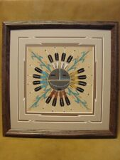 Native American Indian Authentic Navajo Sandpainting by Orlando Myerson
