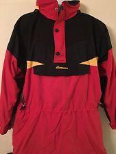 """NORDICA SPORTSYSTEM Men's Ski Snowboard Pullover Jacket Coat Red Hood """"Sz Large"""""""