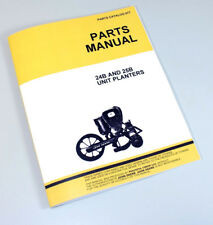 Parts Manual For John Deere 24b 25b Unit Planter Drill Catalog Seed Grain Corn
