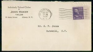 Mayfairstamps US AD 1938 COVER NEW YORK ALBANY TAILOR wwk6671
