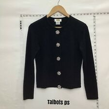 Talbots Black  Cardigan Sweater Petite S