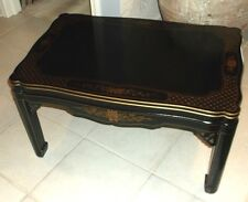 Vintage Kindel Black Laqured Chinoiserie Coffee Table