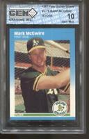 1987 Mark Mcgwire Fleer Update Glossy #U-76 Gem Mint 10 RC Rookie A's Cardinals