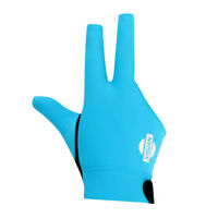 MagiDeal 3-Finger Elastic Right Hand Snooker Pool Cue Billiards Glove Blue