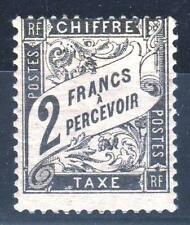 """FRANCE STAMP TIMBRE TAXE N° 23 """" TYPE DUVAL 2F NOIR """" NEUF x TB  RARE  P437"""