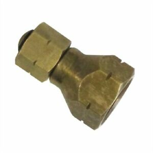 """Brass Gas Adaptor Fitting 3/8"""" BSP-LH outlet to a POL outlet"""