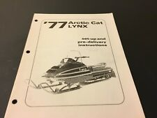 Vintage Arctic Cat 1977 Lynx Set-Up and Pre-Delivery Instructions 0153-106