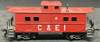 EARLY ATHEARN, RED CABOOSE CHICAGO & EASTERN ILLINOIS C&EI 6. VINTAGE, RARE