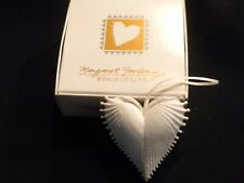 "1995 Margaret Furlong ""Wings Of Love"" Heart Shaped Christmas Ornament-Excellent!"