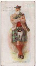 Macintyre Family Clan Scotland History Celtic Tartan 100+ Y/O Trade Ad Card