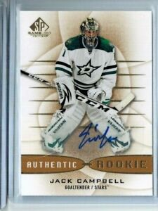 2013-14 SP GAME USED AUTHENTIC ROOKIE AUTO JACK CAMPBELL