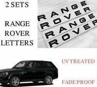 2 x GLOSS BLACK Range Rover Letters - L322 SPORT FRONT/REAR Evoque - RR2*