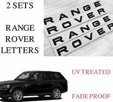 2 X Noir Brillant Range Rover Lettres-L322 Sport Avant//Arrière font-RR 2 *