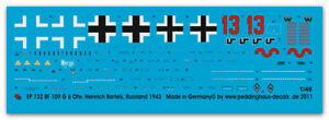 Peddinghaus-Decals 1/48, 0732 - Bf 109 F Ofw Heinrich Bartels
