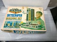Vintage Ideal Toys SKYSCRAPER CONSTRUCTION SET Building Toy w/ Box