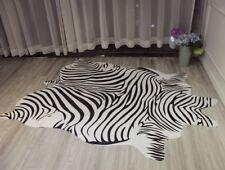 6.9'X4.6' Zebra Animal Printed Cow Hide Faux Fur Rug Mat Carpet Blanket Washable