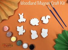 Paint Your Own Magnet Kids Craft Set ~ Woodland Animals ~ PaintIng Craft Kit