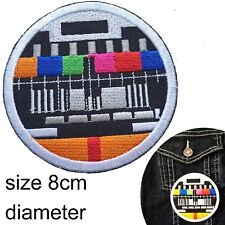 Test pic TV Iron on patch - eighties retro 80 television screen iron-on patches