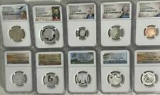 2020 S Silver Proof Set  NGC PF70 FIRST DAY of Issue 10 Coins San Francisco Mint