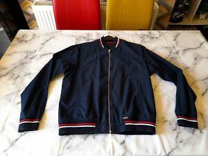 Mens Zara Zip Up Jacket/Size Euro M USA M/Navy/Good Condition