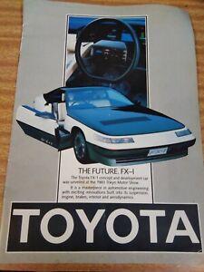 1984 Toyota colour brochure FX-1 corona corolla supra sprinter crown tercel+more