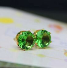 Crystal green small stud silver earrings jewellery 1 pair fashion