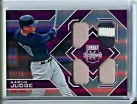 2016 Elite Quad Jersey PURPLE Aaron Judge RC NEW YORK YANKEES  RARE #'D 10/25