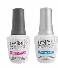 Gelish Harmony Dynamic Duo Foundation Base + Top Soak Off UV Gel Polish LED