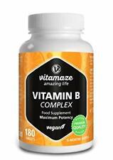 Vitamina B Complex Alto Dosaggio, 180 Compresse Vegan