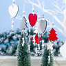 3pcs Merry Christmas Wooden Ornament Pendant Xmas Tree Hanging Decor