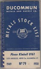 1949-1950 Ducommun Metals and Supply Co Catalog No 79 Metals Stock List 100 Year