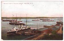 British Fleet in Halifax Harbour,Halifax N.S. Antique Postcard 1909