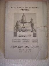RARO ALMANACCO AGENDINA DEL CALCIO BARLASSINA 1940-41 XVIII - XIX E.F.